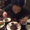 赤坂にある「ロリンズ」でアメリカンステーキを食べながら打ち合わせ